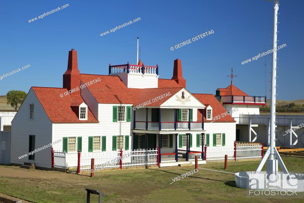 Stock Photo: Bourgeois House, Fort Union Trading Post National Historic Site, North Dakota.