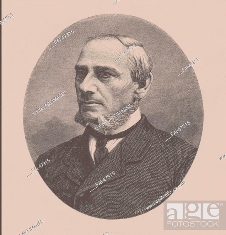 Stock Photo: Stepan Mikhaylovich Zhukovsky (1818-1877) by Seryakov, Lavrenty Avksentyevich (1824-1881)/Lithography/Book design/1870s/Russia/Private.