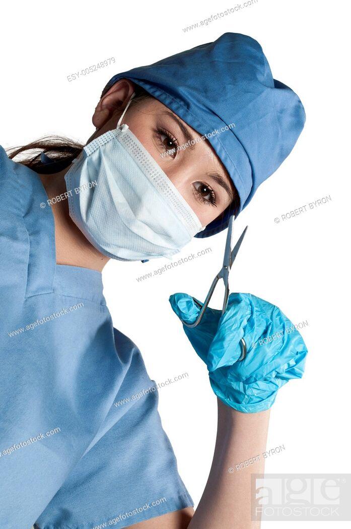 Stock Photo: Beautiful Woman Surgeon.