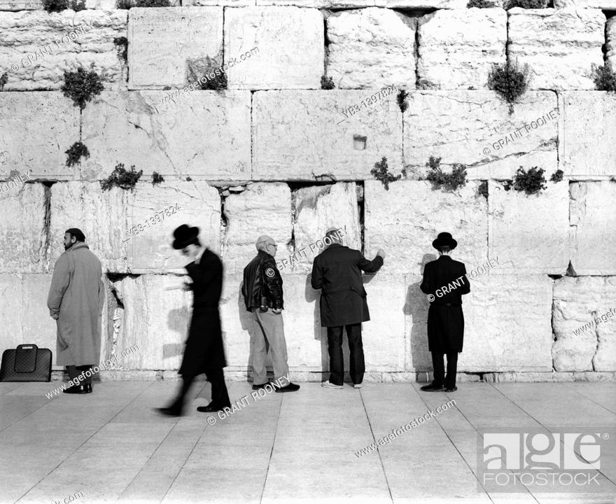 Stock Photo: Western Wall, Old City of Jerusalem, Israel.