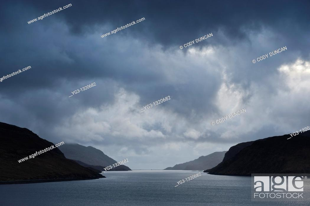 Stock Photo: Stormy weather over Loch Seaforth, Isle of Lewis, Western Isles, Scotland.