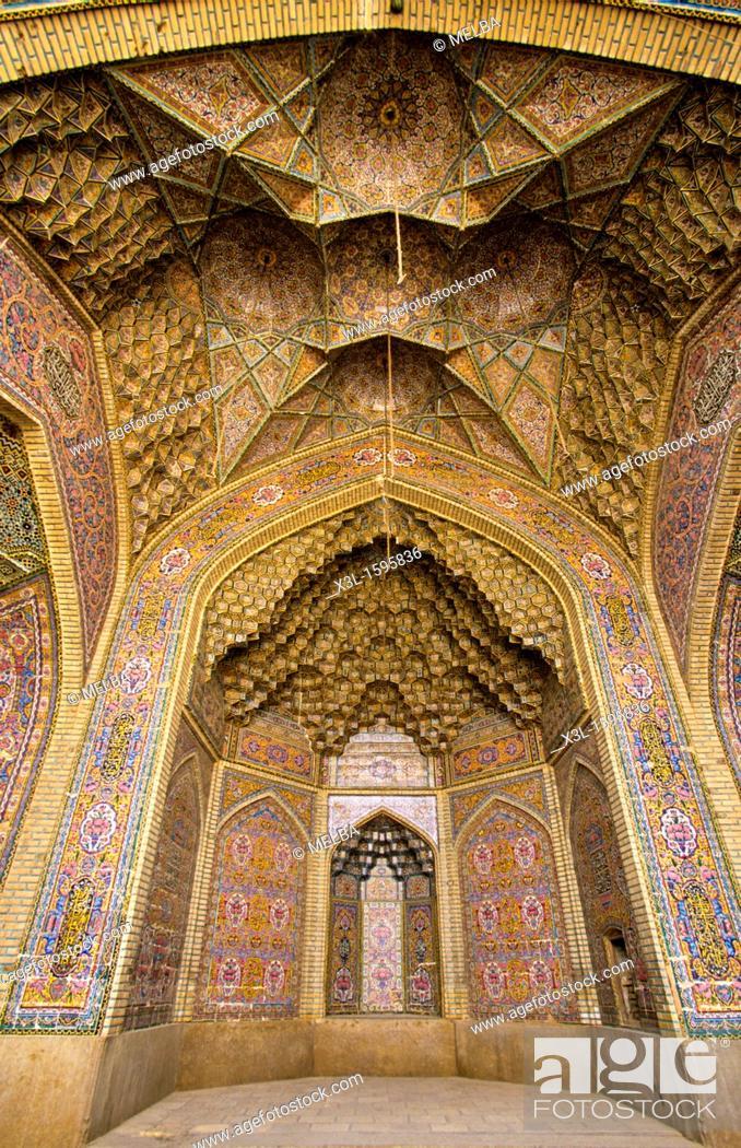 Stock Photo: Nassir-Ol-Molk mosque 1887  Shiraz  Iran.