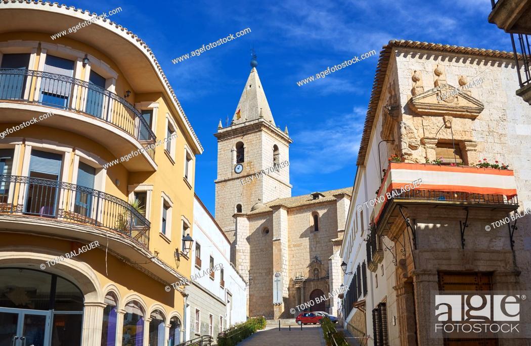 Imagen: La Roda El Salvador church in Albacete at Castile La mancha of Spain.