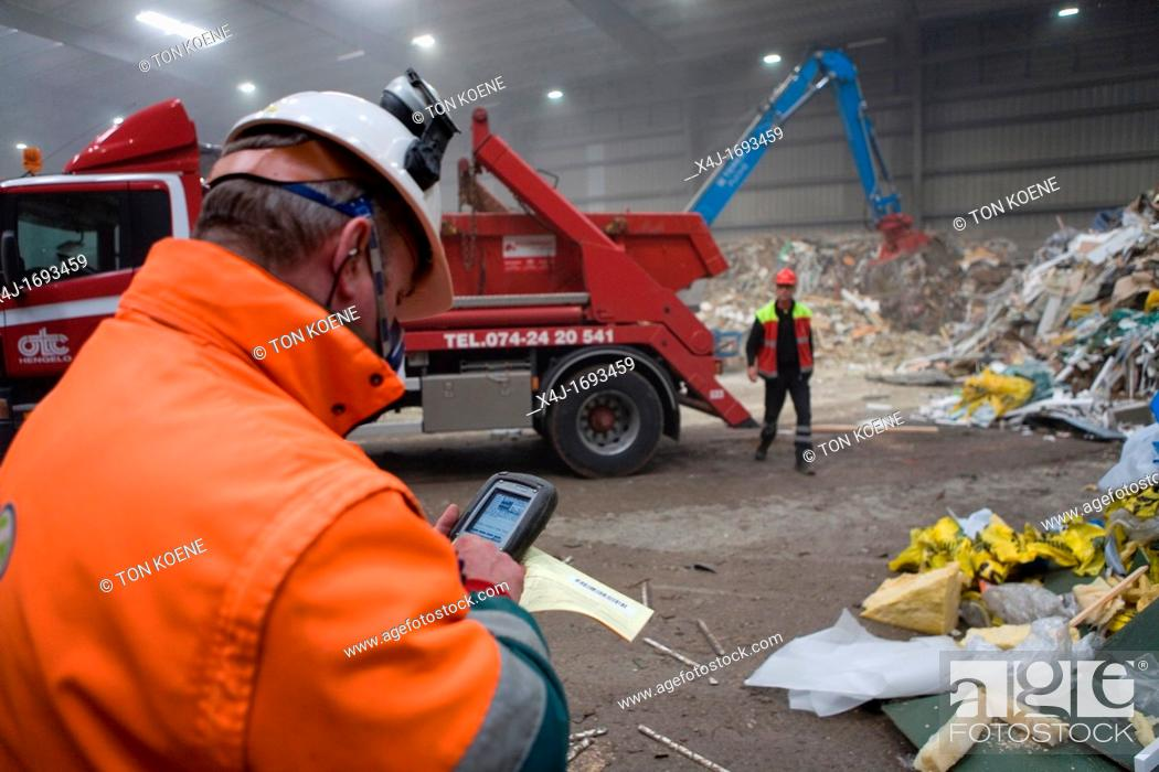 Stock Photo: The combustor 'Twence' in The Netherlands is able to process 550, 000 tonnes of waste and 150, 000 tonnes of biomass annually The majority of waste is being.