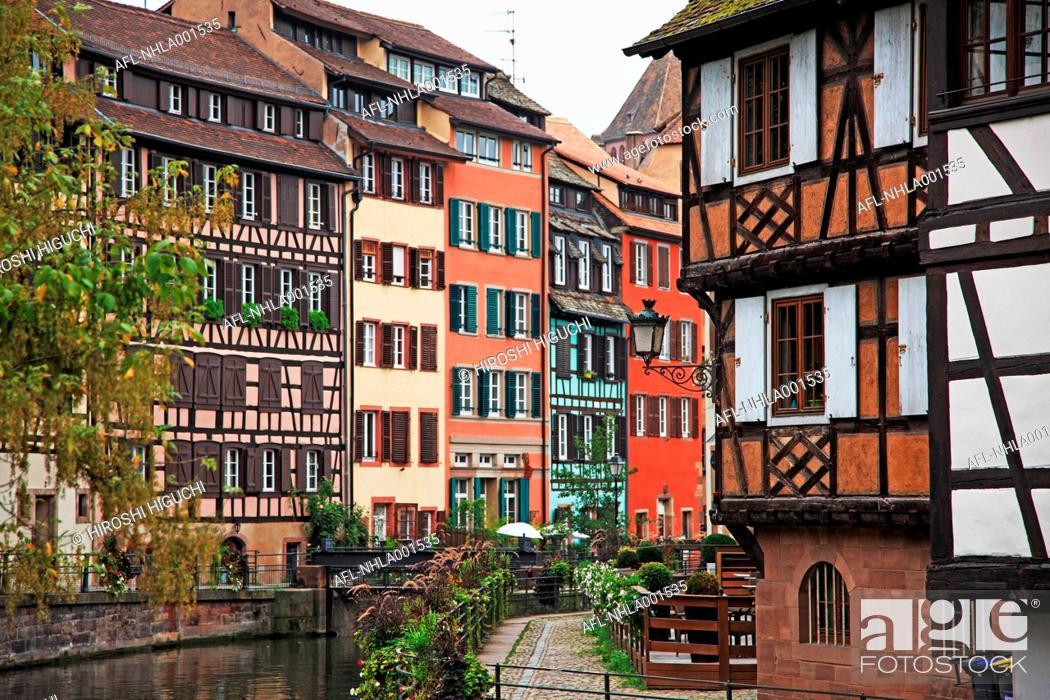 Stock Photo: France, Alsace, Strasbourg, the Grande Ile, UNESCO World Heritage, La Petite France.