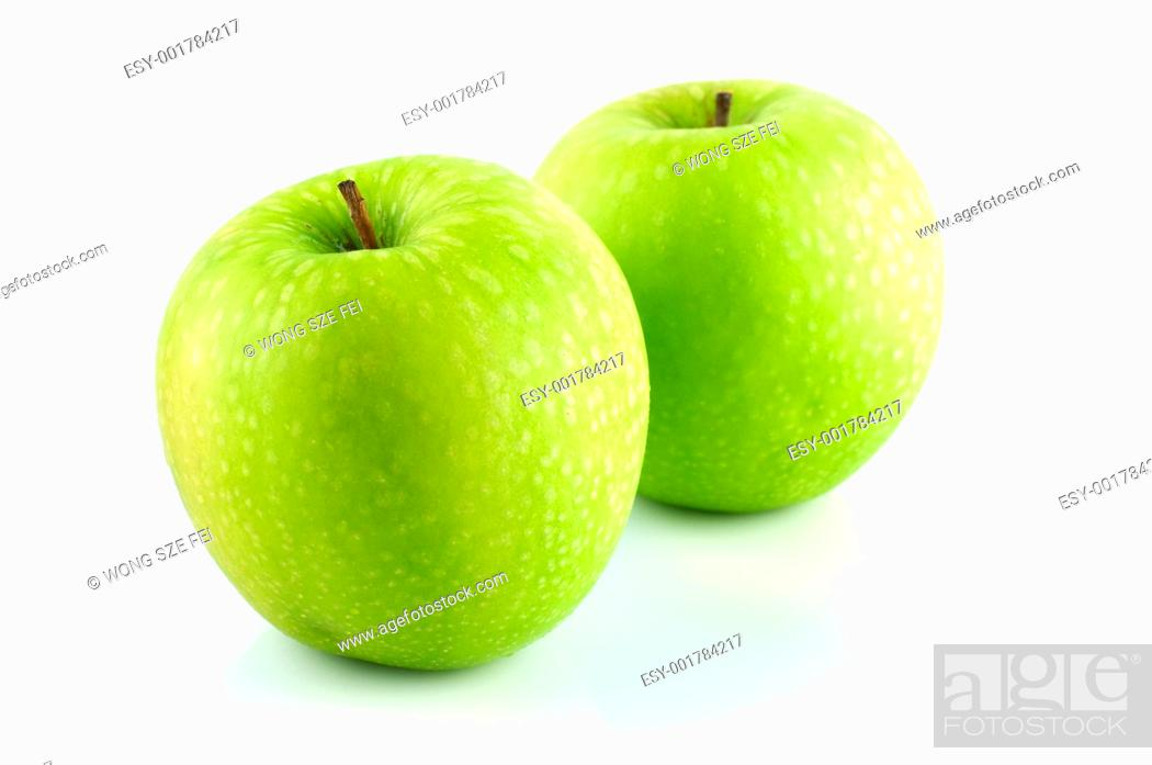 Imagen: Granny Smith apple.