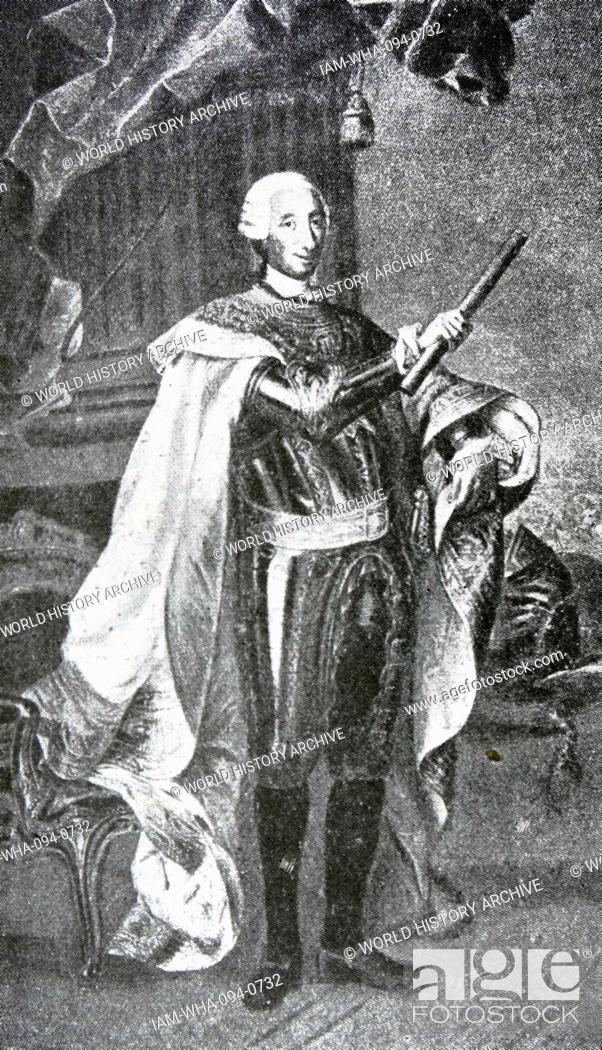 foto de Engraved portrait of King Charles III of Spain (1716-1788) King of ...