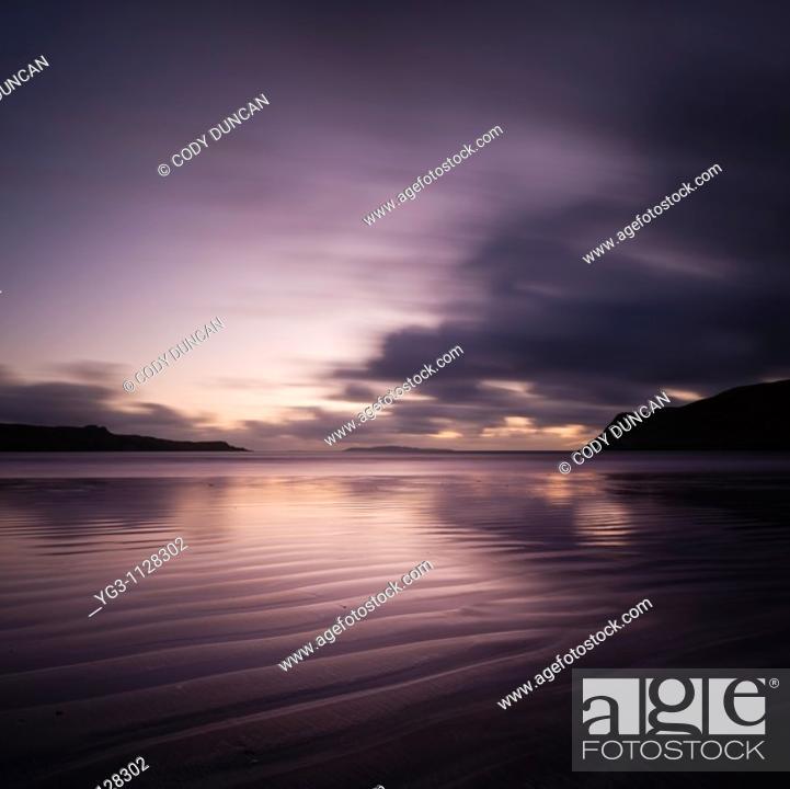 Stock Photo: Beach at Loch Brittle, Glenbrittle, Isle of Skye, Scotland.