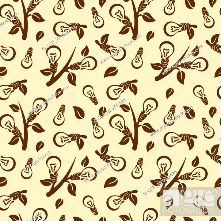 Stock Vector: Ecology abstract seamless pattern.