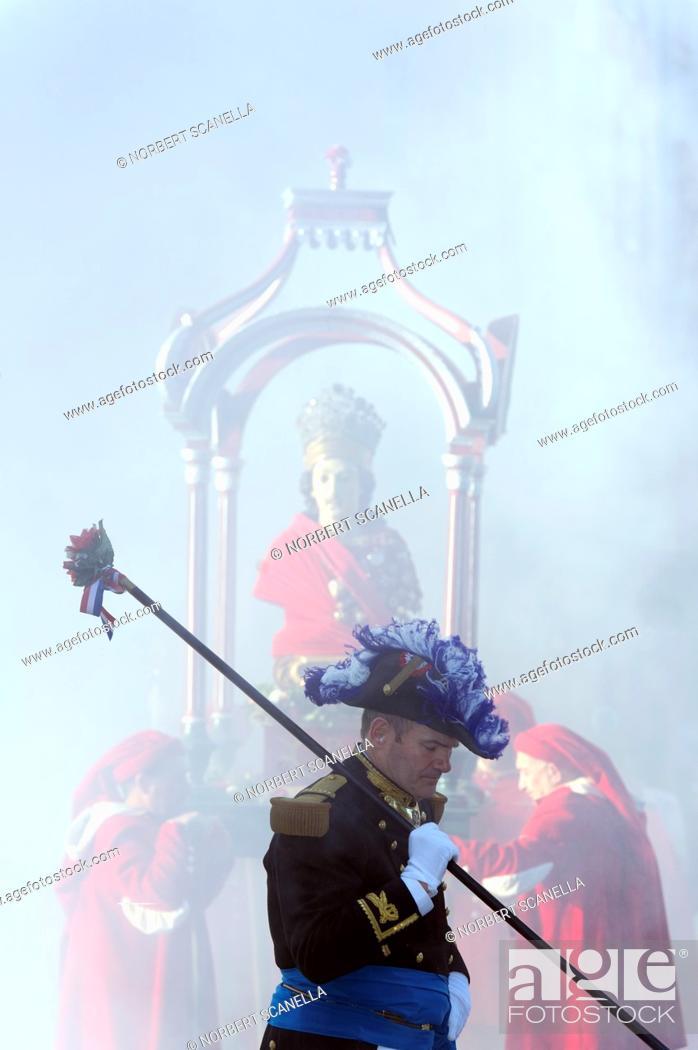 Stock Photo: Europe, France, Var, 83, St  Tropez, the bravado parade.