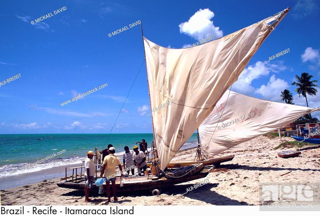 Stock Photo: Brazil - Recife - Itamaraca Island.