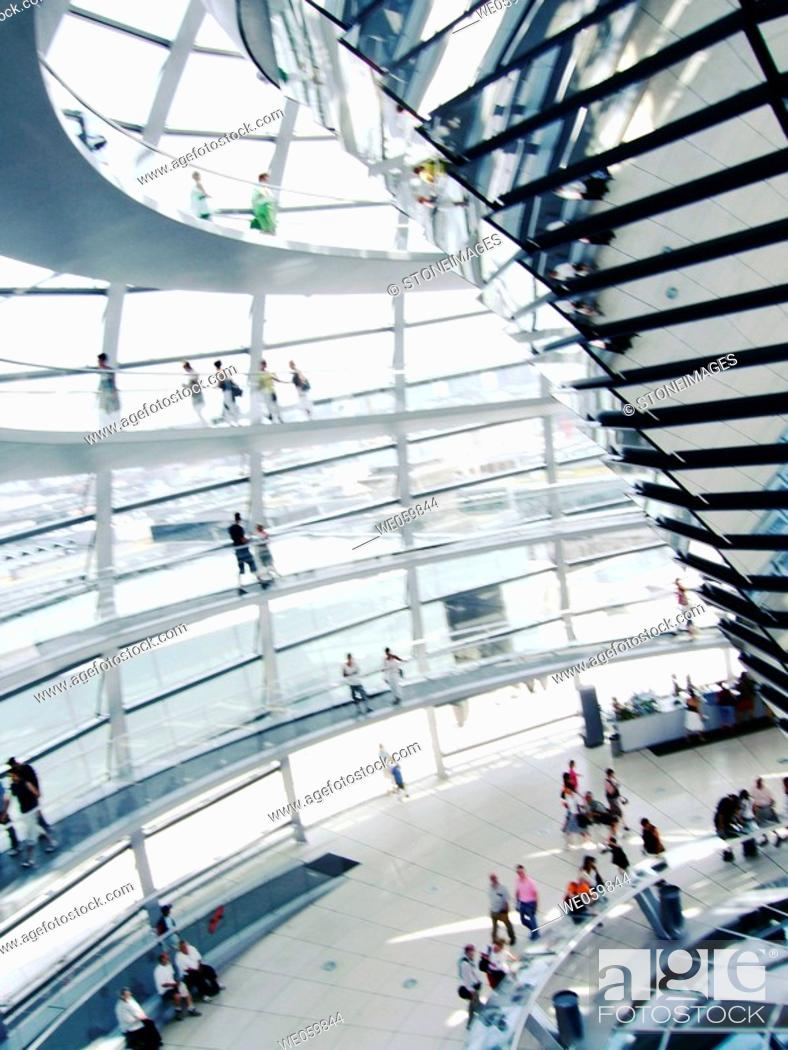 Stock Photo: Dome of the Reichstag building, Berlin. Germany.