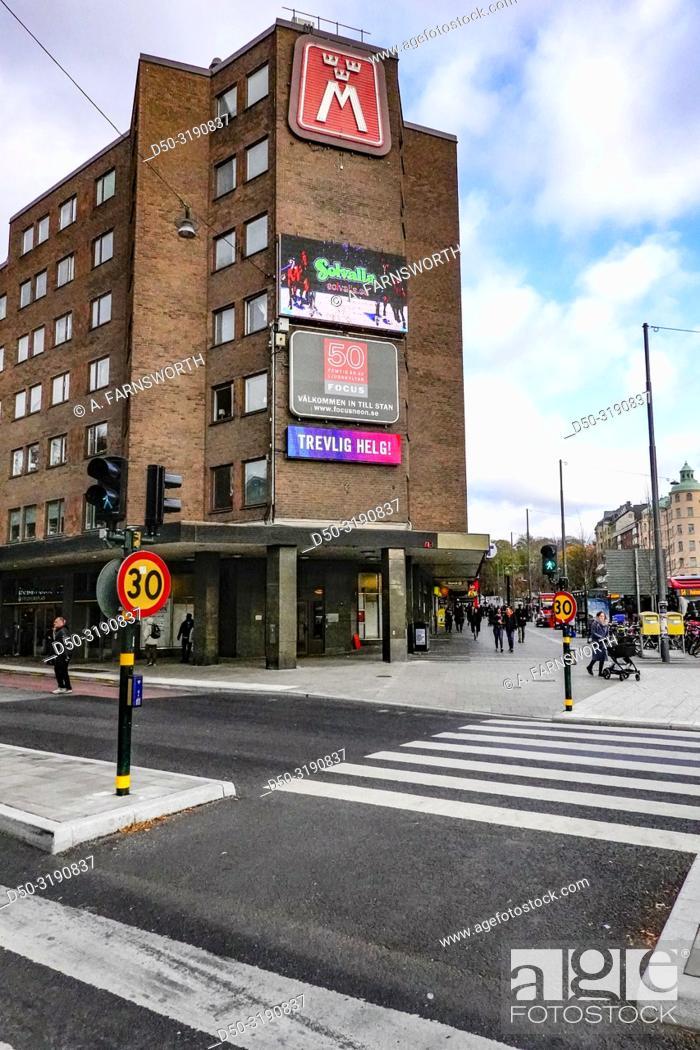 Imagen: Stockholm, Sweden Fridhemplan, a main hub in central Stockholm.