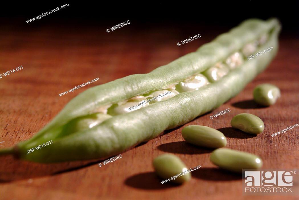 Stock Photo: Food, vegetables, bean.