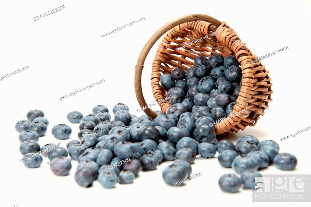 Stock Photo: Frische Heidelbeeren.