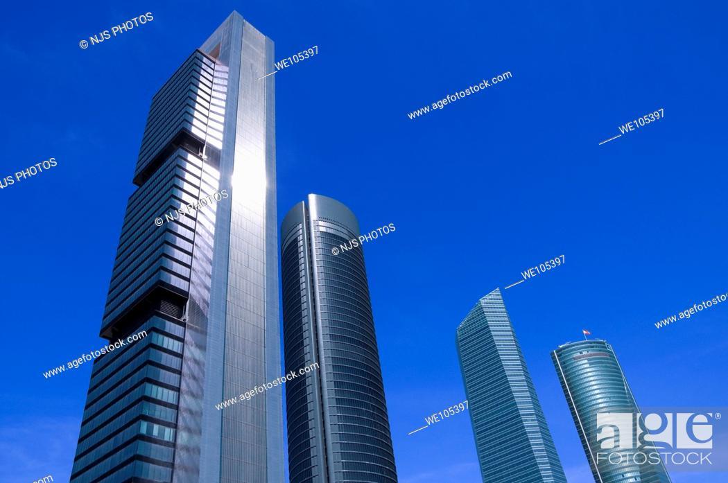 Stock Photo: Cuatro Torres Business Area, Comunidad de Madrid, Spain, Europe.