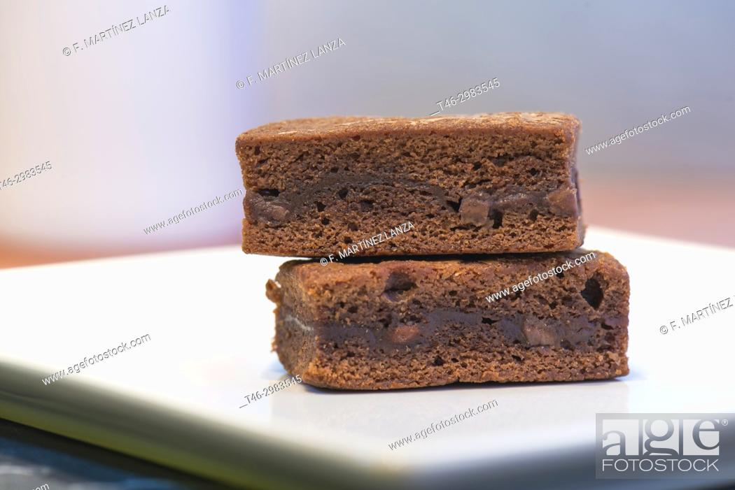 Stock Photo: Chocolate brownie.