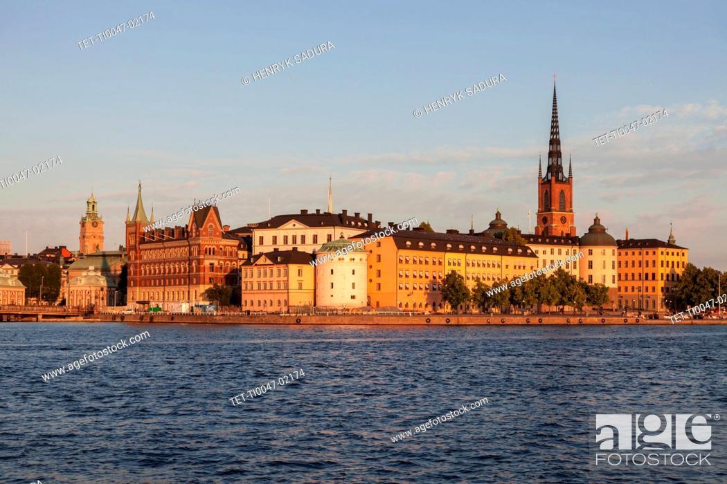 Stock Photo: Skyline of Stockholm, Sweden, Europe.