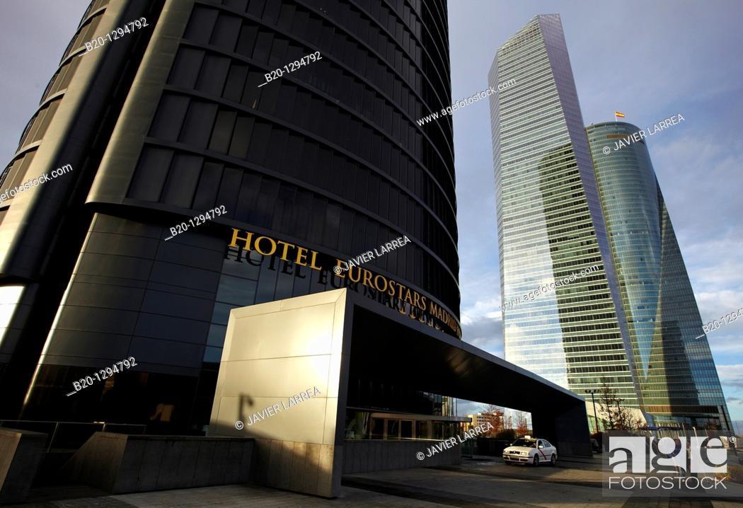 Stock Photo: Eurostars Madrid Tower Hotel, CTBA, Cuatro Torres Business Area, Madrid, Spain.