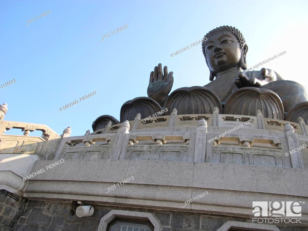 Stock Photo: Tian Tan Buddha, or Big Buddha located on Lantau Island in Hong Kong.