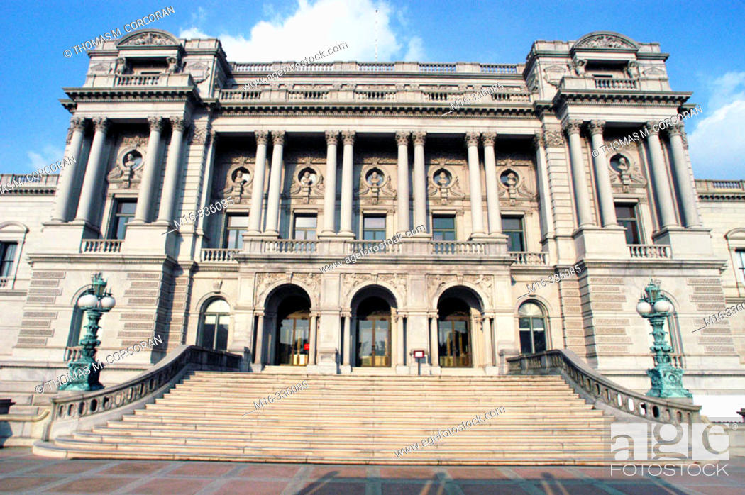 Stock Photo: Thomas Jefferson building, Library of Congress. Washington D.C. USA.