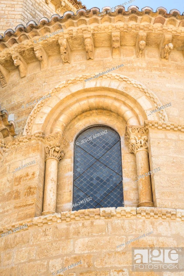 Stock Photo: Church of San Martin, Romanesque style, 11th Century. Fromista. Province of Palencia, Castile-Leon, Spain.