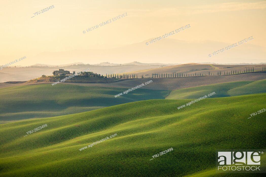 Stock Photo: Tuscan landscape.