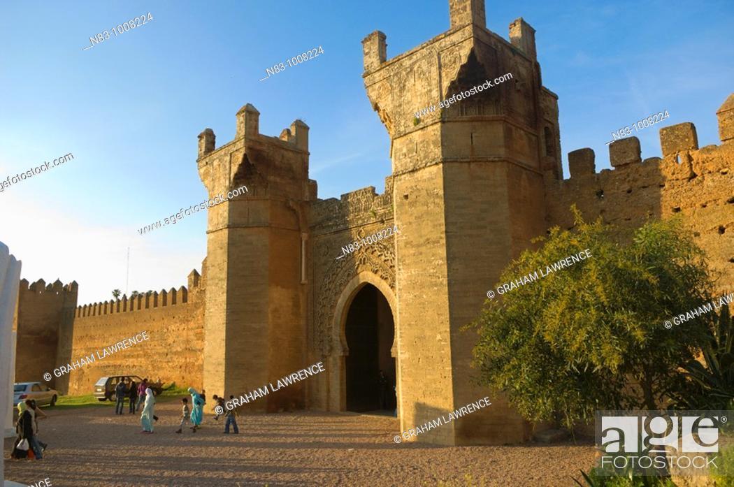 Stock Photo: Entrance to the Chella Necropolis, Rabat, Morocco, Africa.