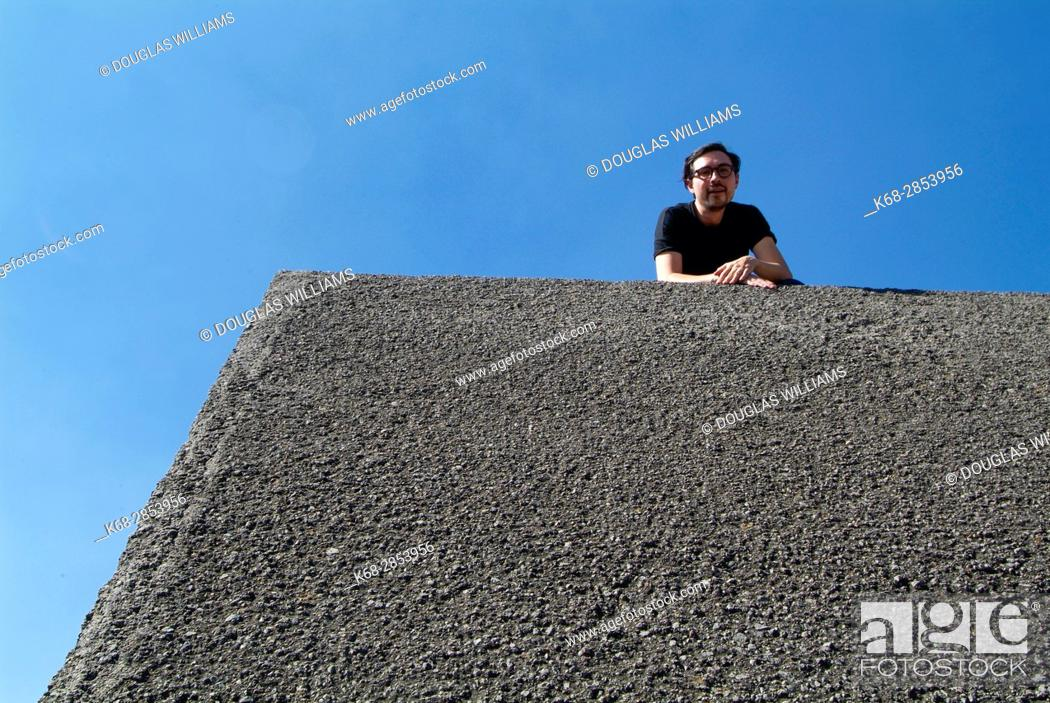 Stock Photo: The Sculpture Space at UNAM, Mexico City, Mexico.