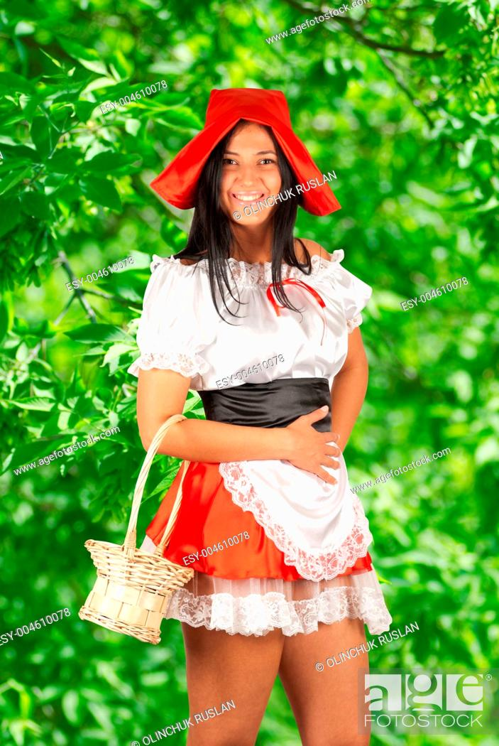 Stock Photo: Red Riding hood.