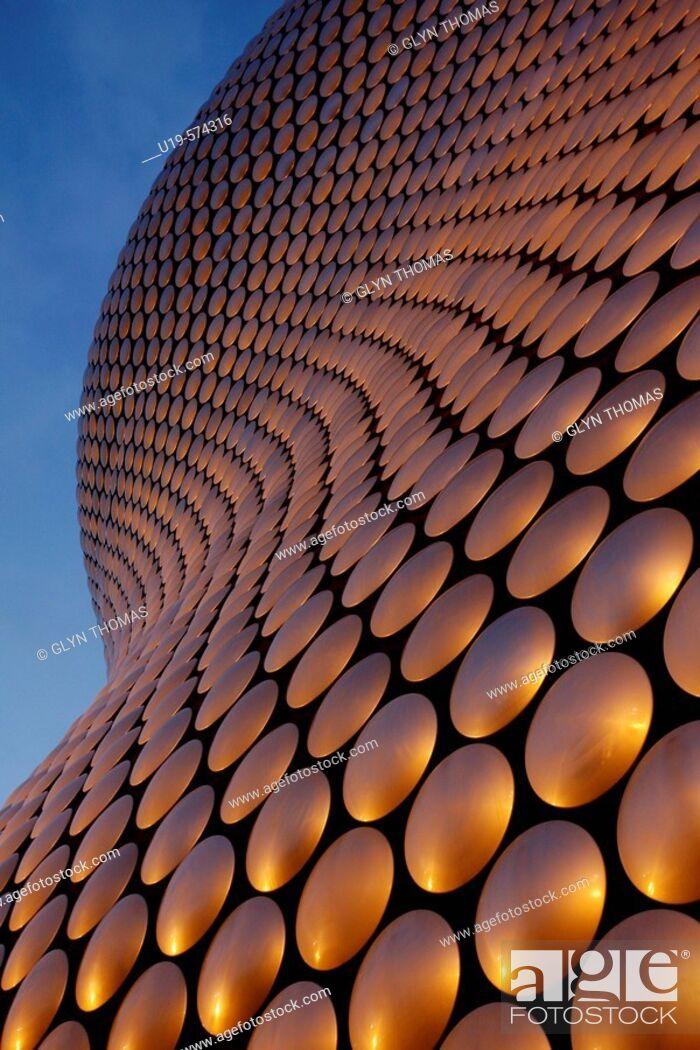 Stock Photo: Selfridges building at the Bullring in Birmingham at sunset, West Midlands, England, UK.