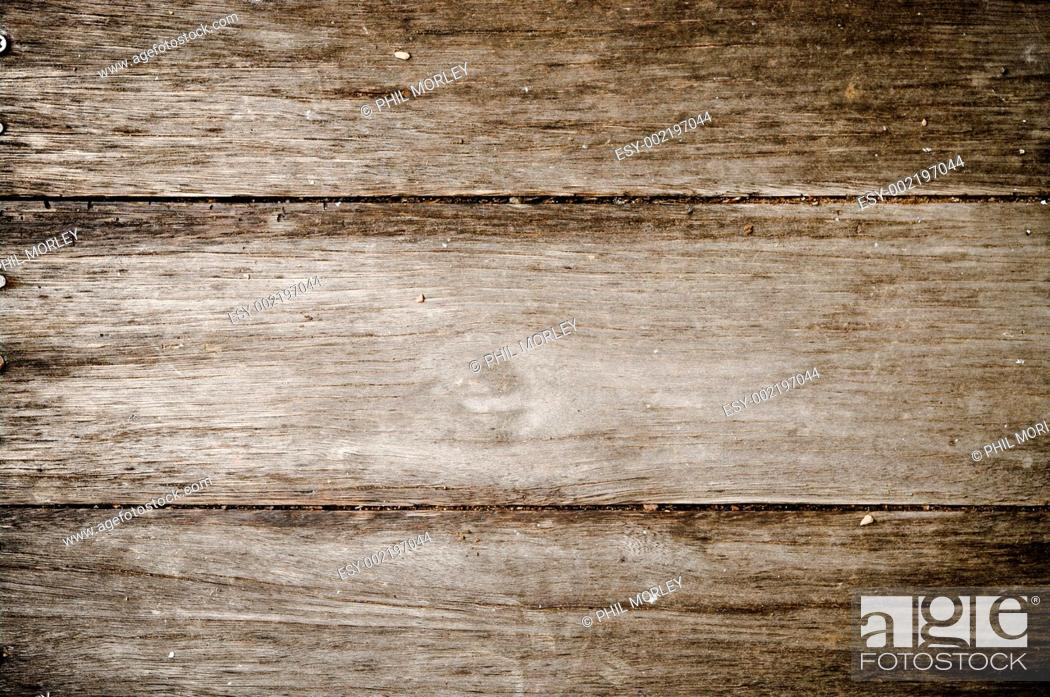 Stock Photo: old grungy wood background texture.