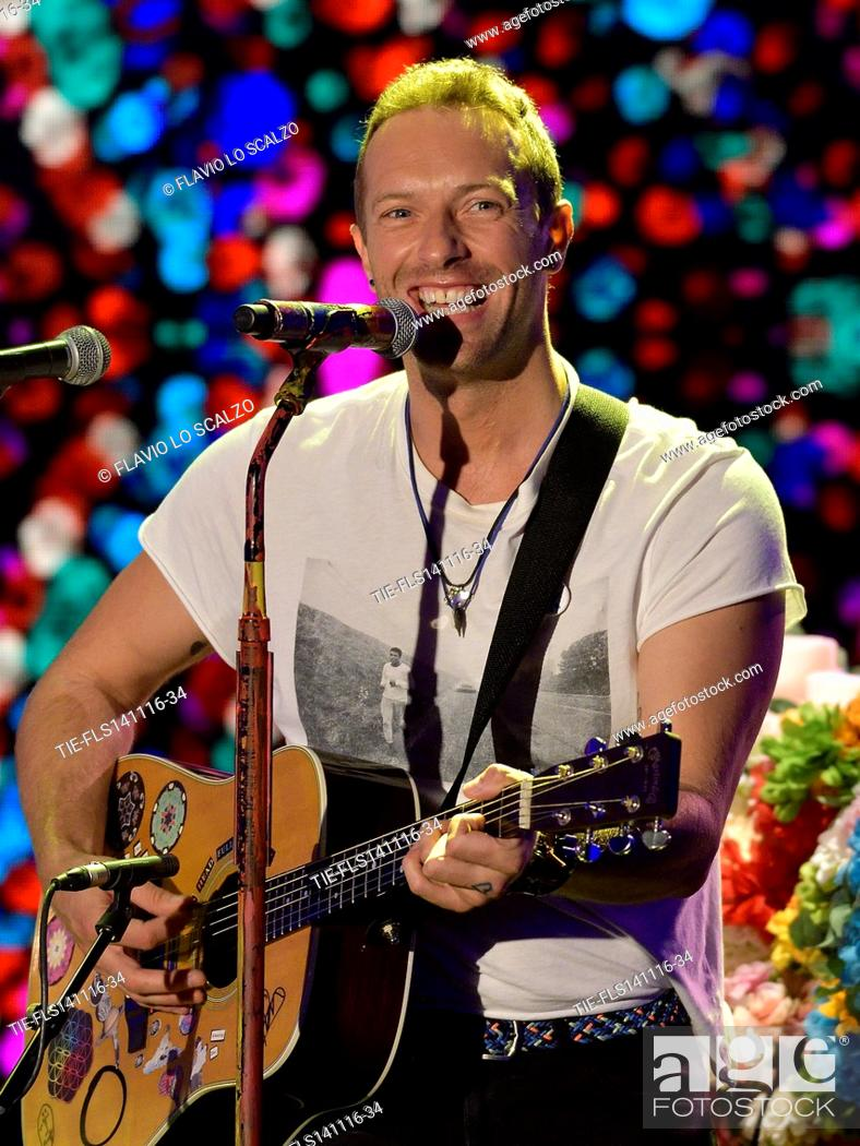 Imagen: Chris Martin, frontman of Coldplay guest at tv programme Che tempo che fa, Milan, ITALY-13-11-2016.