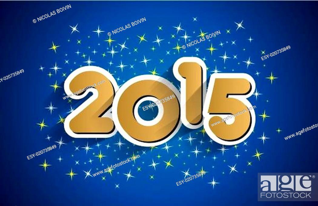 Stock Vector: Happy New Year.