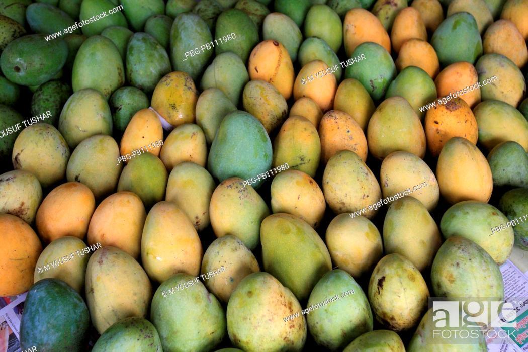 Stock Photo: Mangoes are a popular summer fruit in Bangladesh Rajshahi.
