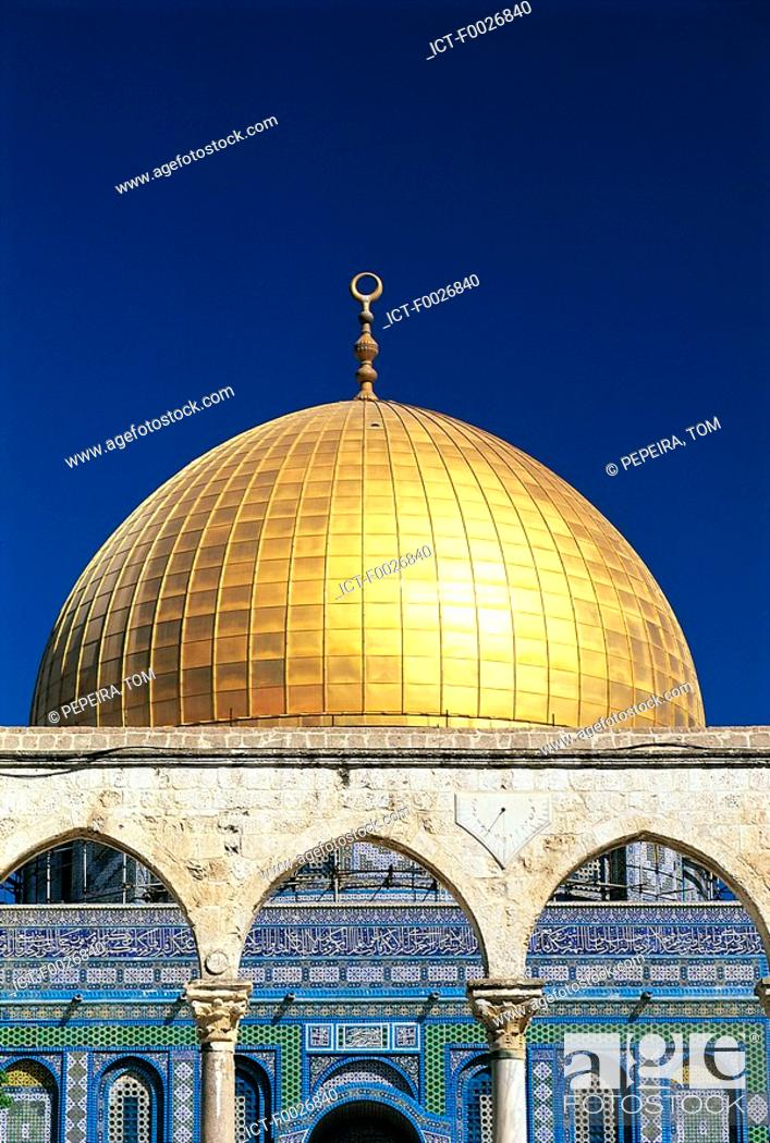 Stock Photo: Israel, Jerusalem, Dome of the Rock.