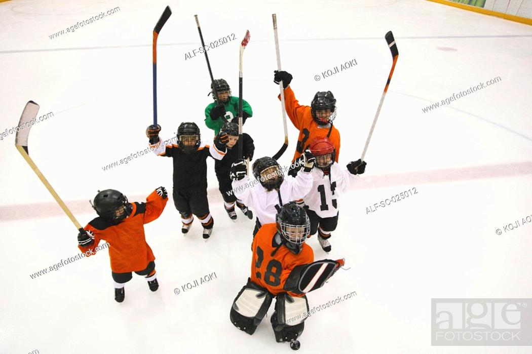 Stock Photo: Young Hockey Team.