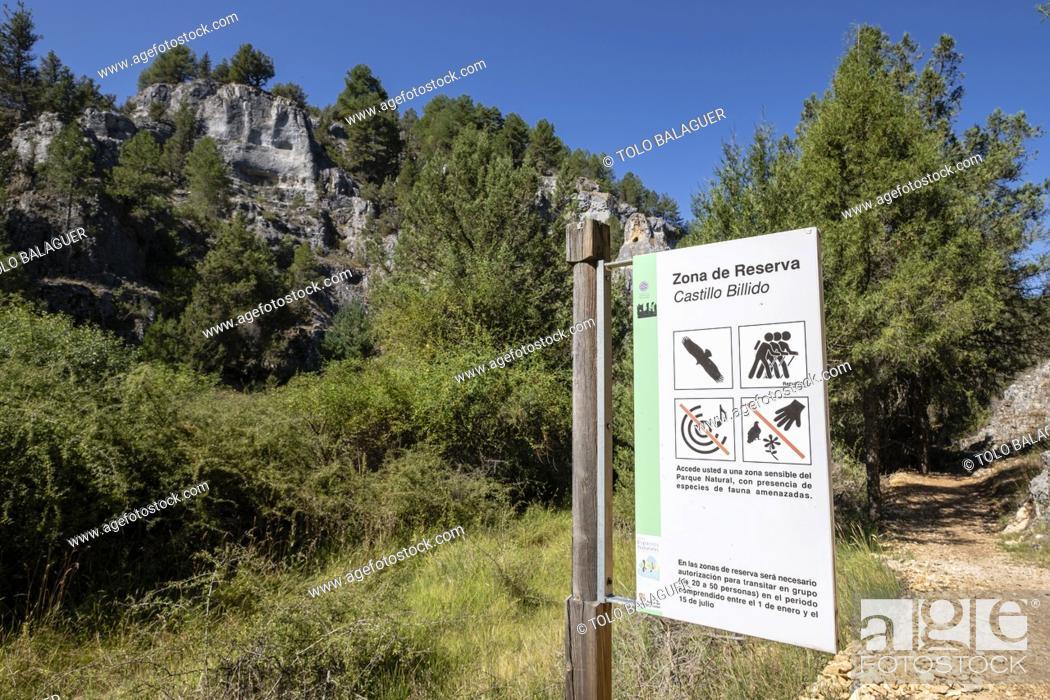 Stock Photo: zona de reserva Castillo Billido, Parque Natural del Cañón del Río Lobos, Soria, Comunidad Autónoma de Castilla, Spain, Europe.