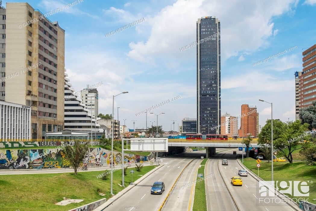 Stock Photo: Colombia, Cundinamarca department, Bogota, Centro district, Avenida Jimenez.