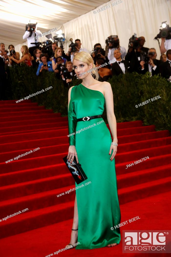 Actress Emma Roberts Attends The 2015 Costume Institute Gala Benefit