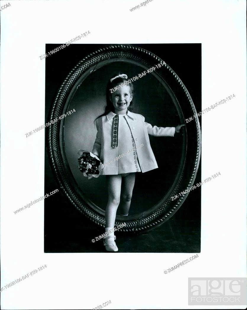 Stock Photo: 1972 - Spring steps out in a fun'n feminine toddler-tuned ensemble of Russell Mills' Kodel polyster and combed cotton plaque.