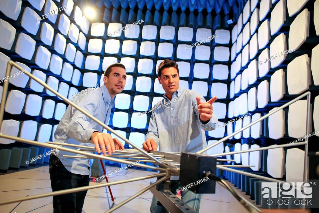 Researchers Anechoic Chamber Emc Telecom Lab Certification Of