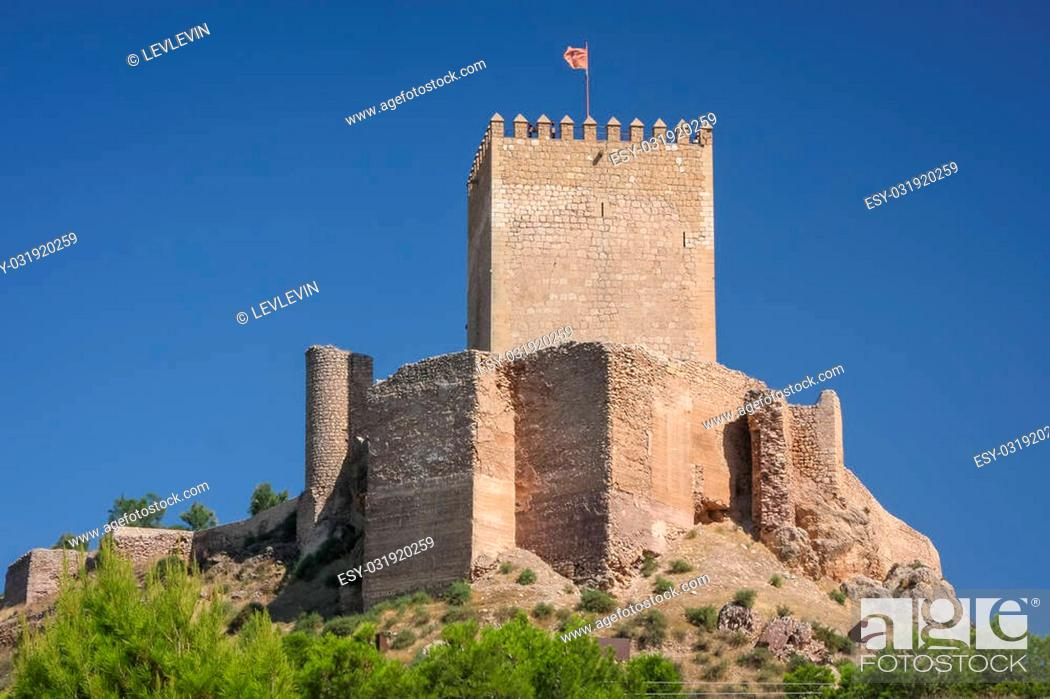 Stock Photo: Ruins of the medieval castle of Lorca, Spain.