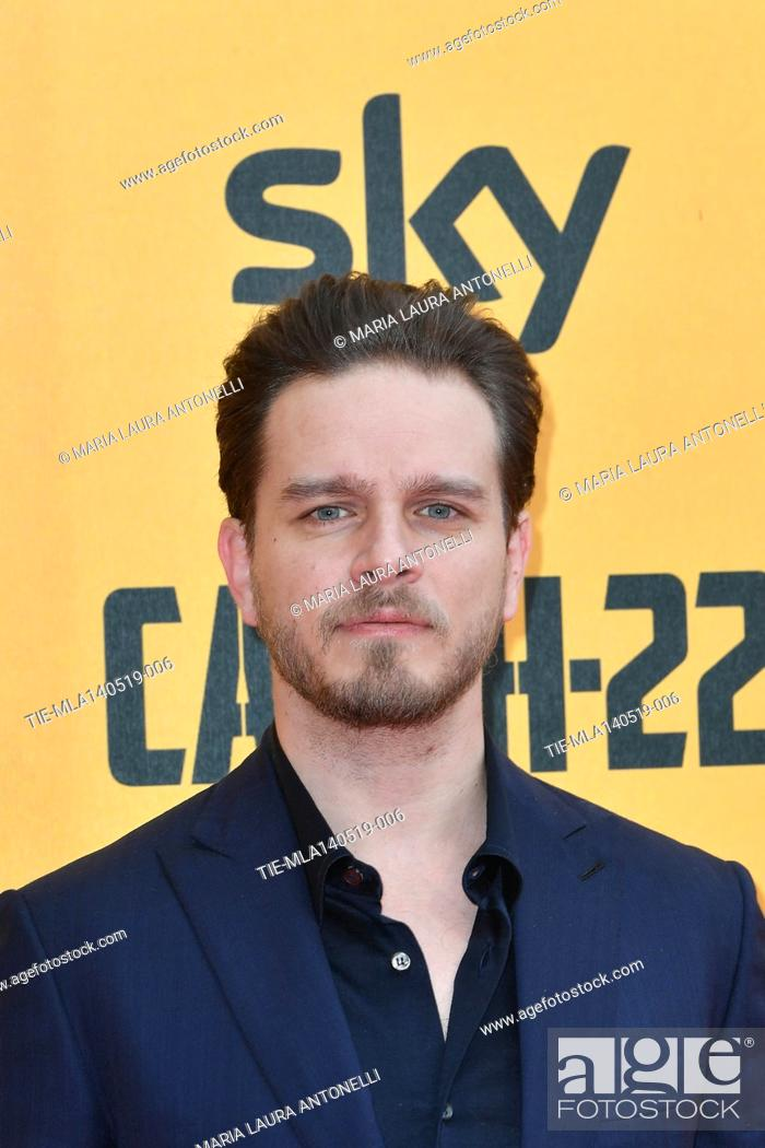 Stock Photo: Arturo Muselli during the Red carpet for the Premiere of film tv Catch-22, Rome, ITALY-13-05-2019.