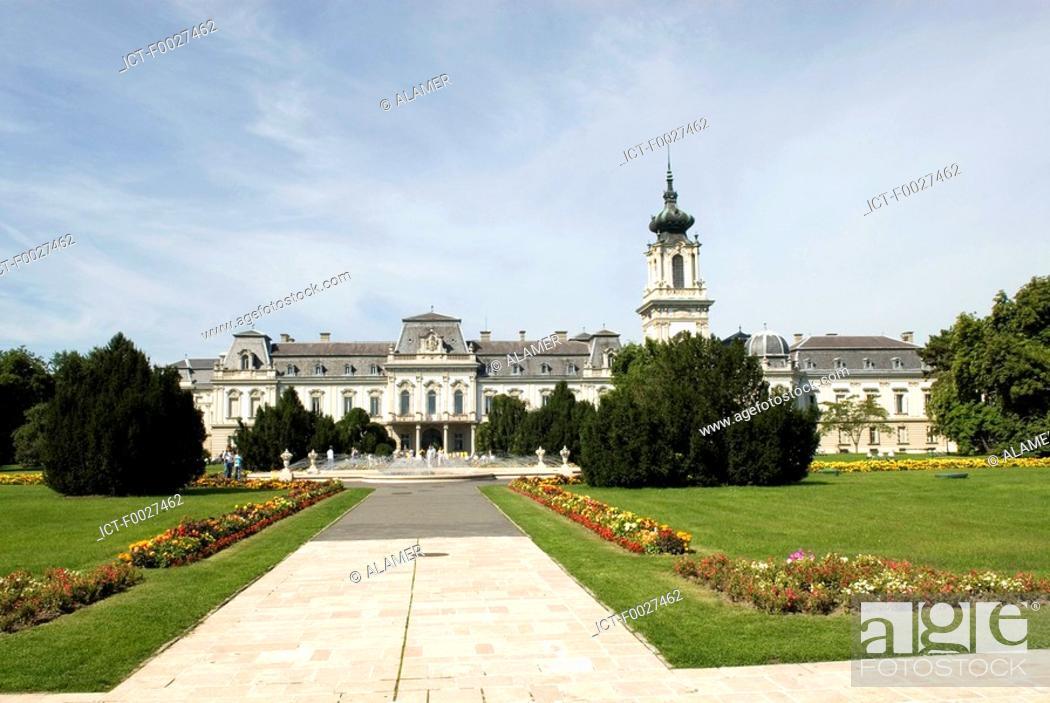 Stock Photo: Hungary, Keszthely, Festetics Castle.