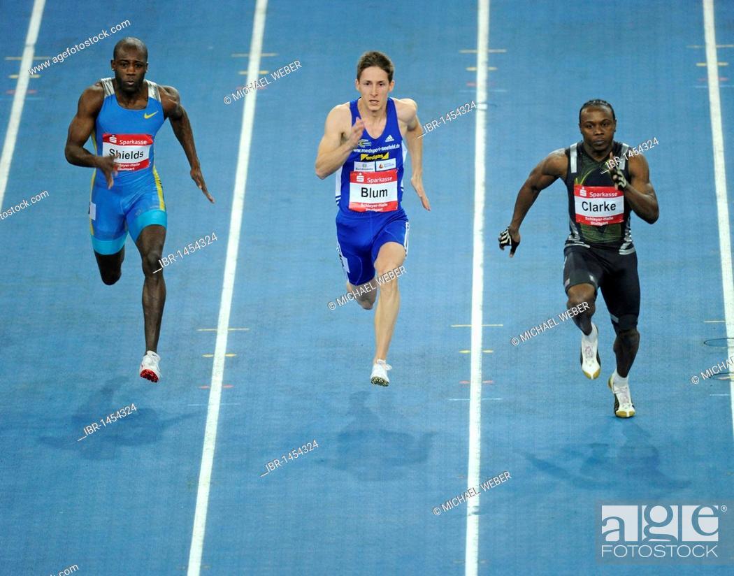 Men's sprint, left to right: Ryan SHIELDS JAM, Christian