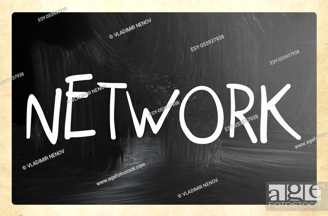 Stock Photo: social media - internet networking concept.