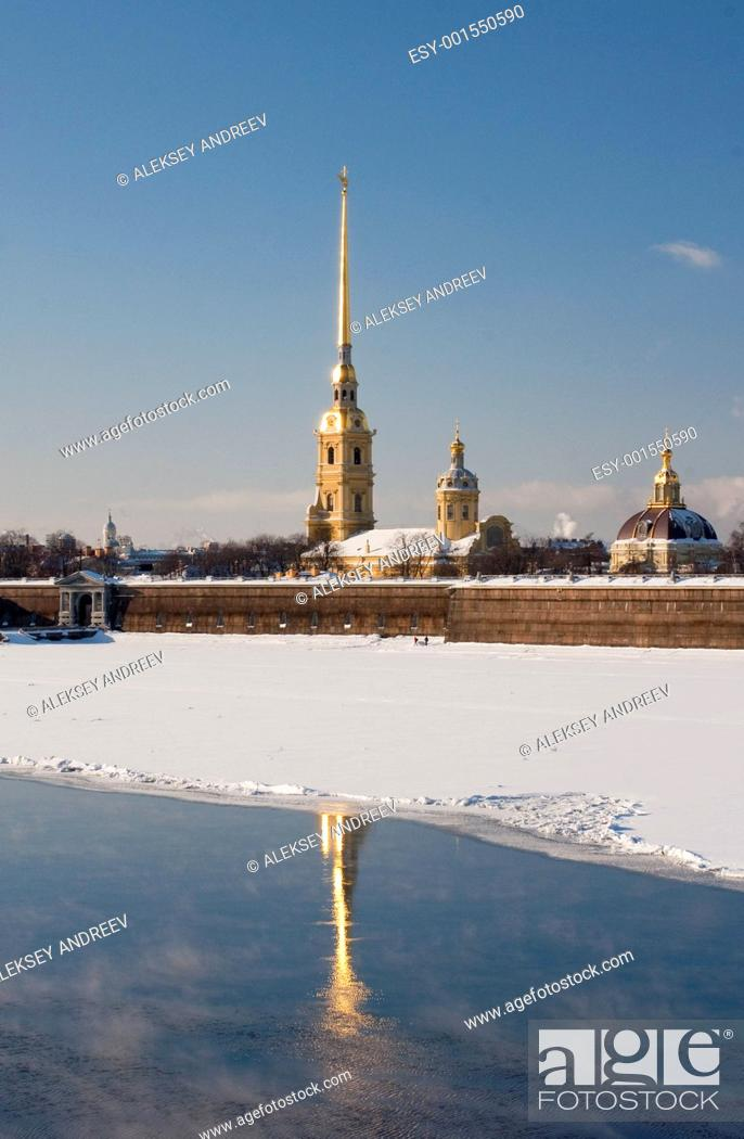 Stock Photo: The Peter and Paul Fortress to St.-Petersburg.