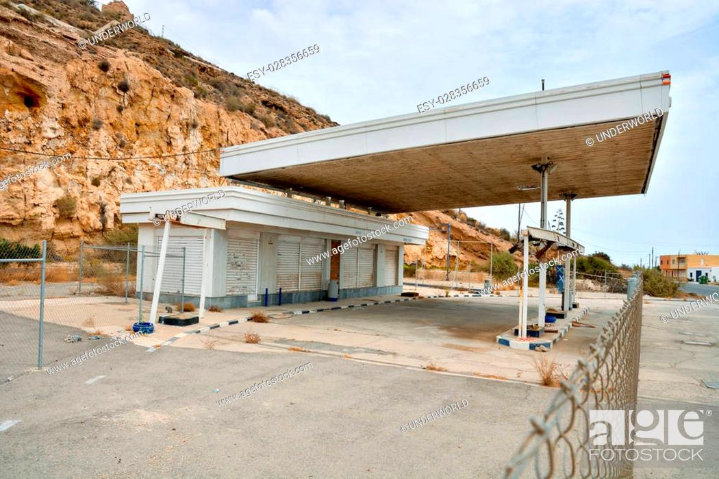 Abandoned Gas Station In Andalucia South Spain Stock Photo Picture And Low Budget Royalty Free Image Pic Esy 028356659 Agefotostock