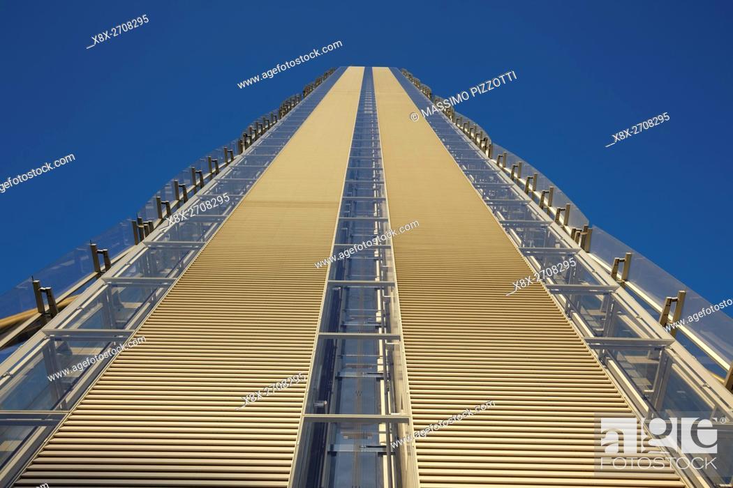 Stock Photo: Isozaki tower in Milan, Italy.